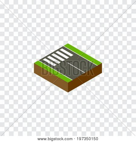 Strip Vector Element Can Be Used For Strip, Pedestrian, Road Design Concept.  Isolated Pedestrian Isometric.