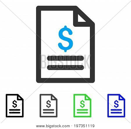 Price List flat vector icon. Colored price list gray, black, blue, green icon variants. Flat icon style for graphic design.