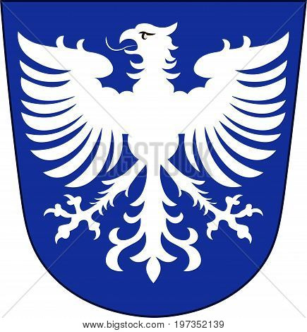 Coat of arms of Schweinfurt is a city in the Lower Franconia region of Bavaria in Germany. Vector illustration from the