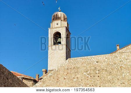 Belfry Of Old Port In Old Town Of Dubrovnik