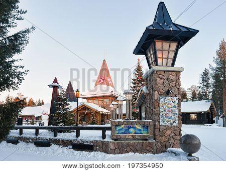 Santa Claus Village At Lapland Of Scandinavia