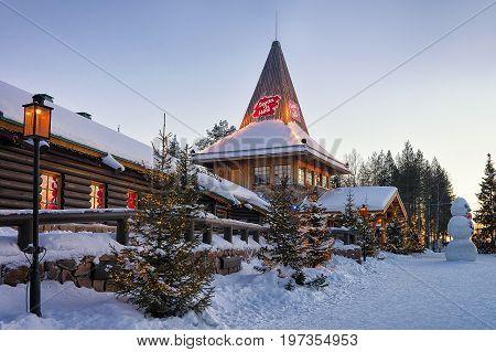 Santa Claus Village At Lapland Scandinavia