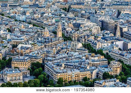 Skyline of Paris, France, Europe seen from Eiffel tower