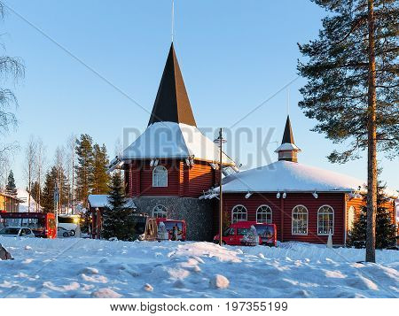 Santa Claus Holiday Village In Lapland Scandinavia