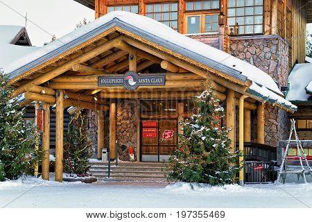 Entrance Into Santa Claus Village In Lapland Scandinavia