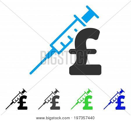 Drug Pound Business flat vector icon. Colored drug pound business gray, black, blue, green pictogram versions. Flat icon style for graphic design.