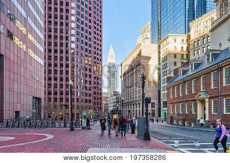 Financial District Downtown Boston Ma America