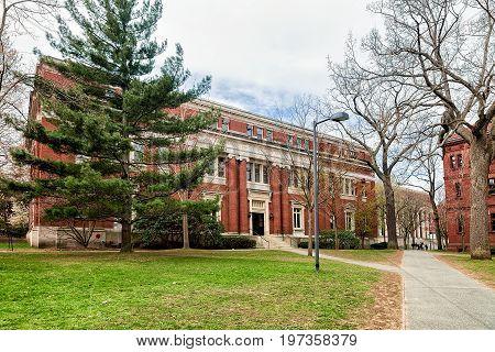 Emerson Hall In Harvard Yard Harvard University In Cambridge America