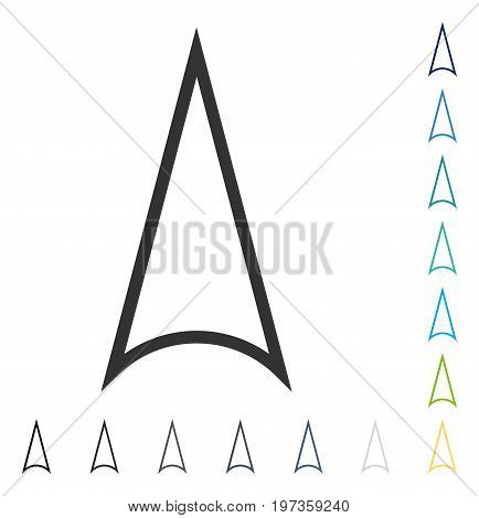 Arrowhead Up icon. Vector illustration style is flat iconic symbol in some color versions.