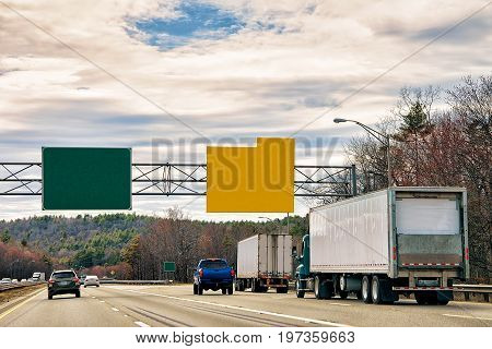 Empty Road Indicator Plates In New York America