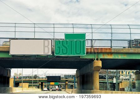 Empty Road Indicator Plates In Boston America