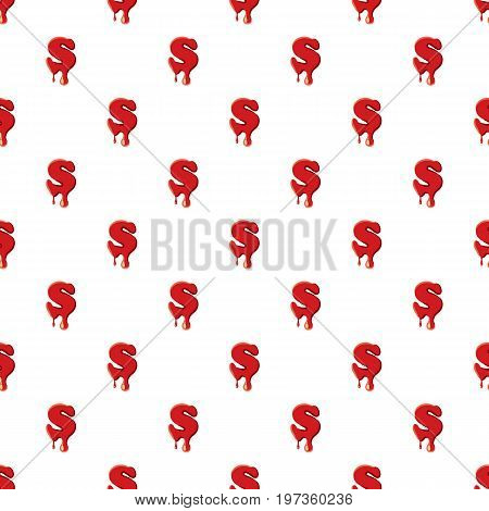 S letter isolated on white background. Red bloody S letter vector illustration