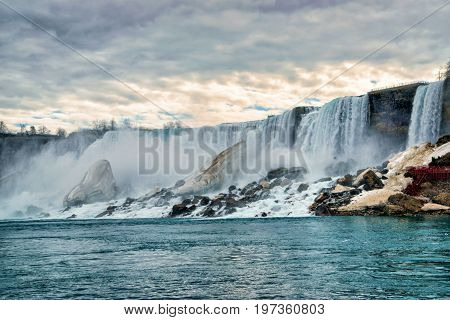 Niagara Falls American Early Springtime