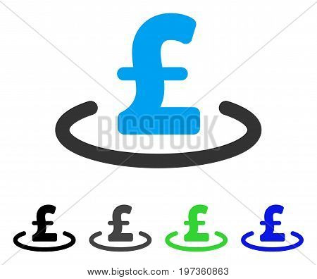 Pound Location flat vector pictogram. Colored pound location gray, black, blue, green pictogram variants. Flat icon style for web design.