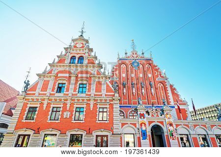 House Of Blackheads On Square Riga Baltic