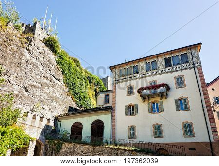 Street And Building Architecture At Sion Capital Valais Swiss