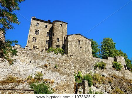 Ancient Building Of Sion Old City Capital Valais Switzerland
