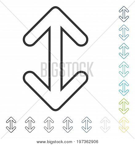 Flip Arrows Vertical icon. Vector illustration style is flat iconic symbol in some color versions.