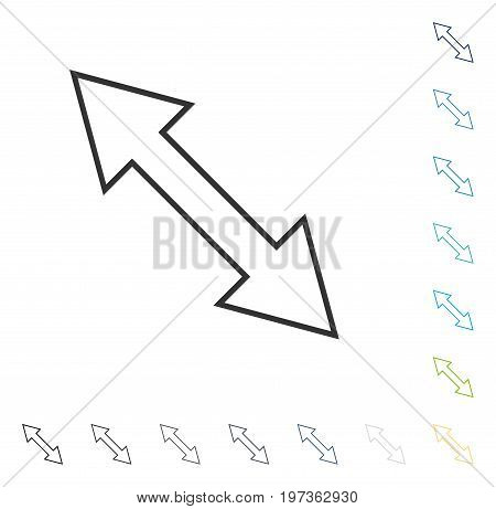 Flip Diagonal icon. Vector illustration style is flat iconic symbol in some color versions.