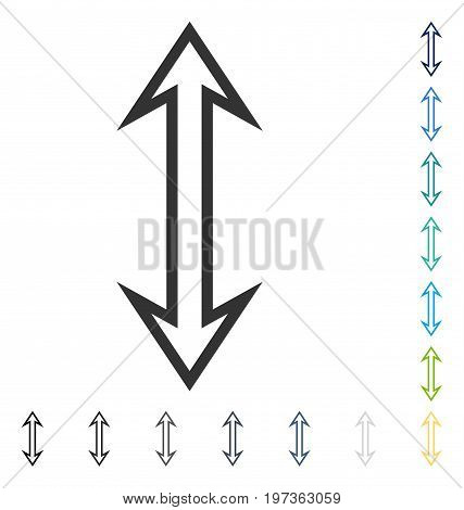 Flip Vertical icon. Vector illustration style is flat iconic symbol in some color versions.