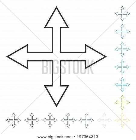 Maximize Arrows icon. Vector illustration style is flat iconic symbol in some color versions.