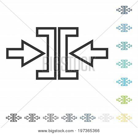Pressure Arrows Horizontal icon. Vector illustration style is flat iconic symbol in some color versions.