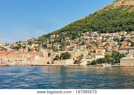 Saint John Fortress And Old Port Of Adriatic Sea Dubrovnik