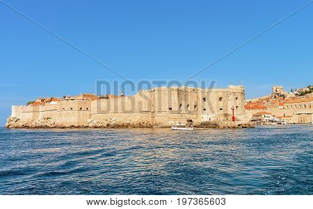 Saint John Fortress And Old Port In Adriatic Sea Dubrovnik