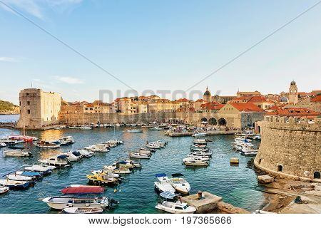 Sailing Boats At Saint John Fortress And Old Port Dubrovnik
