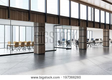 Conference Room And Open Space Office, Wood, Side