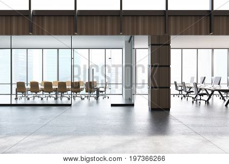 Conference Room And Open Space Office, Wood