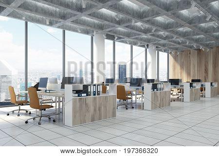 Loft Downtown Office, Beige Chairs, Side