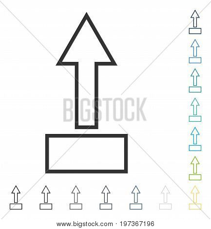 Pull Arrow Up icon. Vector illustration style is flat iconic symbol in some color versions.
