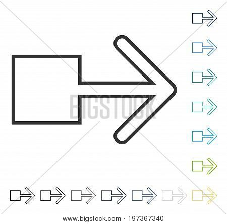Pull Right icon. Vector illustration style is flat iconic symbol in some color versions.