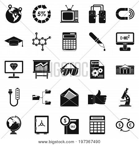 Startup icons set. Simple set of 25 startup icons for web isolated on white background