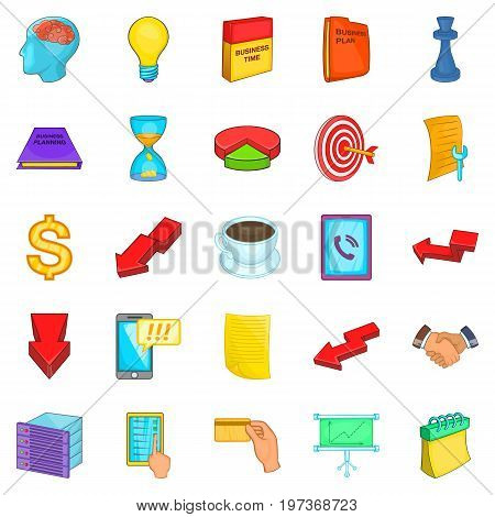 Break icons set. Cartoon set of 25 break icons for web isolated on white background