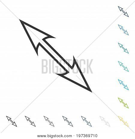 Size Arrow Diagonal icon. Vector illustration style is flat iconic symbol in some color versions.