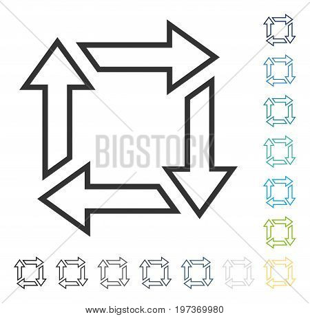Square Recycle icon. Vector illustration style is flat iconic symbol in some color versions.
