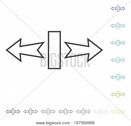 Stretch Arrows Horizontally icon. Vector illustration style is flat iconic symbol in some color versions.