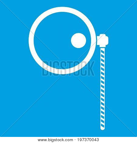 Monocle icon white isolated on blue background vector illustration