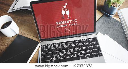 Romantic Dinner Ideas Romance Love Website Concept
