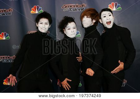 NEW YORK-AUG 26: Members of Siro-A attend the 'America's Got Talent' Season 10 Results Show at Radio City Music Hall on August 26, 2015 in New York City.