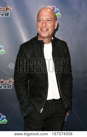 NEW YORK-AUG 26: Comedian Howie Mandel attends the 'America's Got Talent' Season 10 Results Show at Radio City Music Hall on August 26, 2015 in New York City.