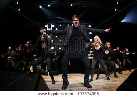 WANTAGH, NY-MAY 31: Singer Ricky Martin performs onstage at 103.5 KTU's KTUphoria 2015 at Nikon at Jones Beach Theater on May 31, 2015 in Wantagh, NY.