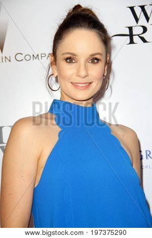 Sarah Wayne Callies arrives at the Weinstein Company's