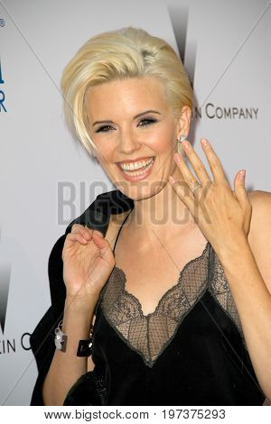 Maggie Grace arrives at the Weinstein Company's