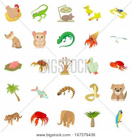Animal shelter icons set. Cartoon set of 25 animal shelter vector icons for web isolated on white background