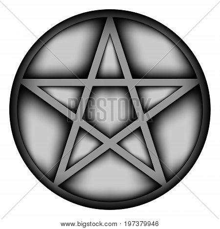 Pentagram icon sign on white background. Illustration.