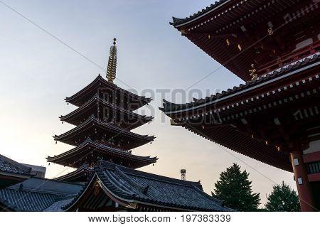Sensoji Temple Sunset