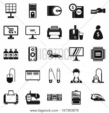 Computer things icons set. Simple set of 25 computer things vector icons for web isolated on white background